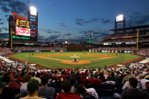 Citizens Bank Park during a Phillies game.