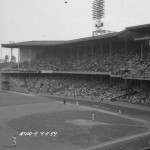 A picture of the crowd at Connie Mack Stadium in 1959, showing the double-decked grandstands.