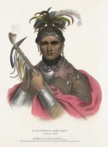 A color lithograph of Seneca war chief Cornplanter