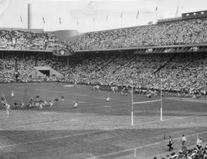 Eagles playing at Franklin Field