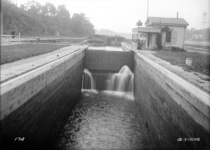 The Fairmount Dam Canal Lock