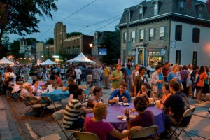 Color photograph of Night Market festival in Mount Airy