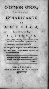 Title page of Thomas Paine's Common Sense