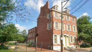 A photograph of the Edgar Allan Poe House.