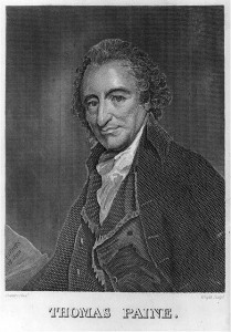 Engraving of Thomas Paine created by George Romney.