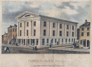 Pennsylvania Hall before the fire. (Library Company of Philadelphia)