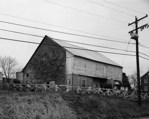 The Newmyer Barn, one of western Pennsylvania's oldest surviving Sweitzer style barn.
