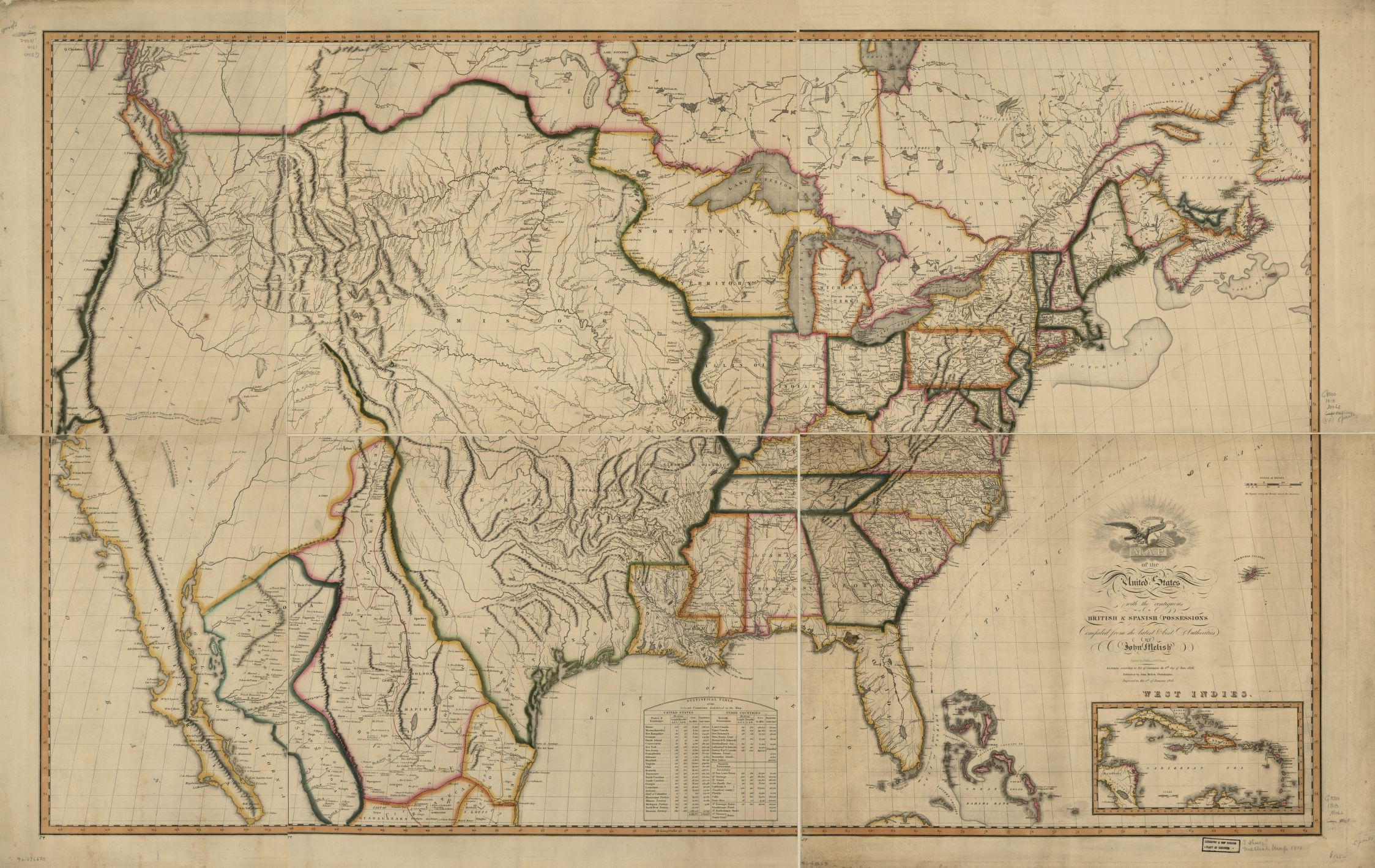 Maps And Mapmaking Encyclopedia Of Greater Philadelphia - Us brown map with states