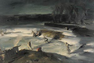 John Folinsbee was known among the New Hope school for painting winter scenes at night. (Pennsylvania Academy of the Fine Arts)