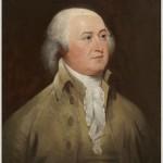 A painted portrait of President John Adams