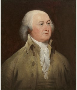 A painted portrait of President John Adams