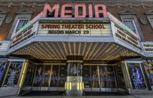 The Media Theatre built in 1927.