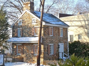 The Thomas Minshall House remains the oldest house in Media. The existing fieldstone structure was built before 1789 as an addition to the original 1682 log house, which was later torn down. The house passed through many owners until its last owner deeded it to Media Borough in 1975. (Wikimedia Commons)