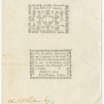 A 1789 One Penny Specie Note issued by the Bank of North America on August 6, 1789.