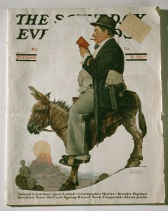 A Saturday Evening Post cover painted by Norman Rckwell.