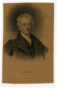 A sepia-tone portrait of William Rawle.