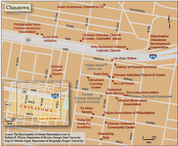 Chinatown Map | Encyclopedia of Greater Philadelphia on weeksville map, five points map, terminal e map, new york city map, broadway play map, museum park map, horner park map, ny public library map, clason point map, central park map, downtown nyc map, park west map, lower manhattan map, the gallery at market east map, forbidden island map, east loop map, gold mountain map, the west village map, assembly square map, greenwich village map,