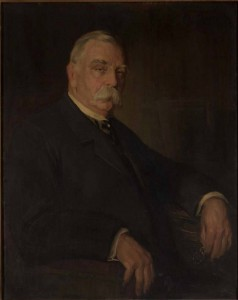 A painted portrait of John Graver Johnson