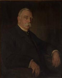 A painted portrait of John Graver Johnson
