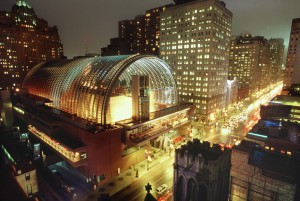 Aerial view of the Kimmel Center for the Performing Arts.