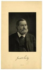 Photograph of leading 19th century anatomical scholar, Joseph Leidy.