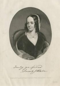 Engraving of Godey's Lady's Book editor Sarah Josepha Hale.