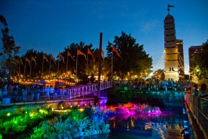 Spruce Street Harbor Park on the Philadelphia riverfront.
