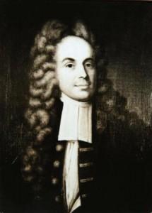 a black and white portrait of Andrew Hamilton