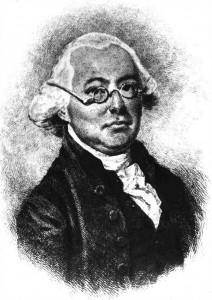 A black and white engraving of James Wilson