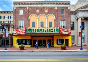 a color photograph of the Colonial theatre in Phoenixville, Pa.