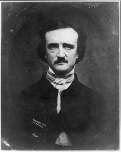 black and white photograph of Edger Allan Poe.