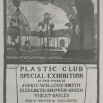 Poster advertising exhibit at the Plastic Club