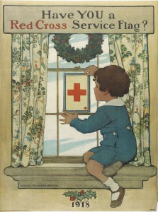 Jessie Willcox Smith, one of the most popular book and magazine illustrators of the twentieth century, created this poster encouraging patriotism on the home front during World War I. (Library Company of Philadelphia)