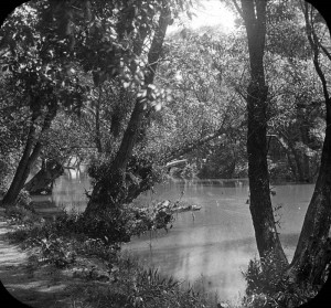 A late 19th century image of a canal constructed by the Schuylkill Navigation Company.