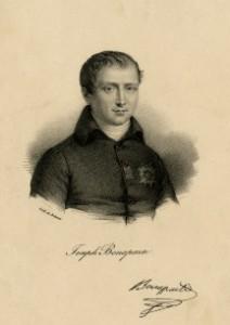 a black and white engraving of Joseph Bonaparte
