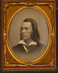 George Lippard, head and shoulders portrait, facing left]