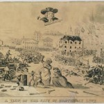 A lithograph depicting scenes of societal and racial unrest in the City of Brotherly Love.