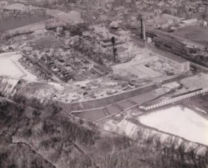 Aerial view of Keasby and Mattison Company site in Ambler, Pennsylvania.