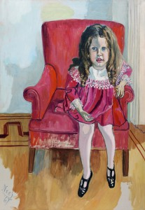 An Alice Neel portrait depicting the famous art critic Clement Greenberg's daughter.
