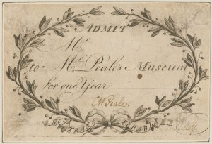 A admission ticket to Peale's museum. (Philadelphia Museum of Art)