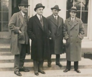 Members of the Philadelphia Chamber of Commerce at the White House to meet with Presdient Coolidge.