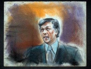 Court room sketch of Camden Mayor Angelo Errichetti