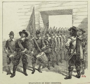 The Evacuation of Fort Christina by the Swedish in 1655.