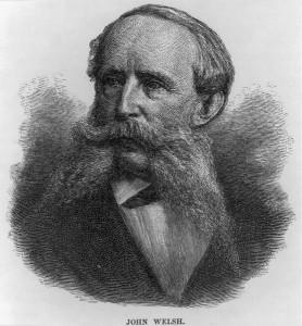 A portrait of John Welsh, longtime president of the Philadelphia Board of Trade