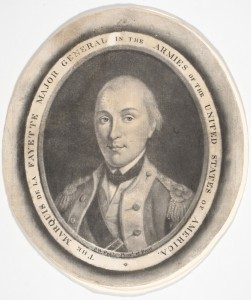 Marquis de Lafayette rose to the rank of Major General in the Continental Army. During his service he and George Washington would form a life-long friendship. (Philadelphia Museum of Art)
