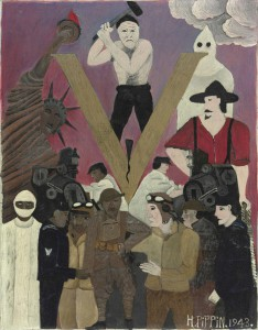 Horace Pippin painted images based off of his life experiences of segregation and military service. (Philadelphia Museum of Art)
