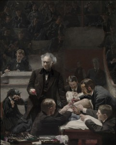 Thomas Eakins based his painting The Gross Clinic off of an actual lecture given by Dr. Gross during a surgery. (Philadelphia Museum of Art)