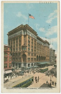 A color postcard of Reading Terminal