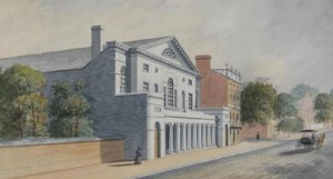 The Chestnut Street Theatre was the site of Susanna Rowson's performances. (Historical Society of  Pennsylvania)