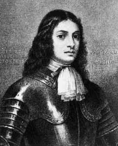 A portrait of William Penn.
